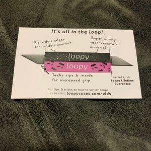 Loopy Case Halloween black glitter/purple bats